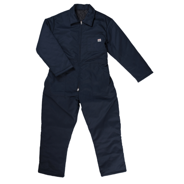 Work King Mens Insulated Twill Coverall Navy Front 7121