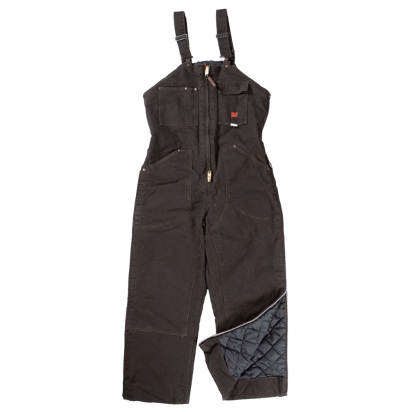 Tough Duck Mens Insulated Overall Dark Brown 7537 Front View