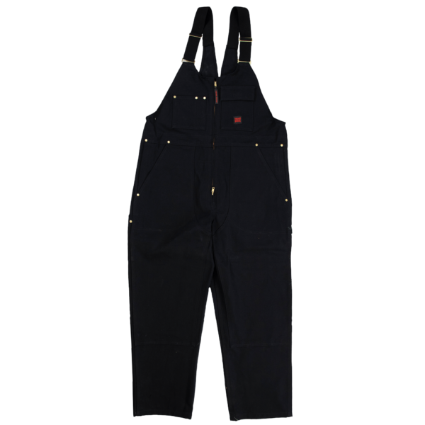 Tough Duck Mens Unlined Overalls Black Front 7637