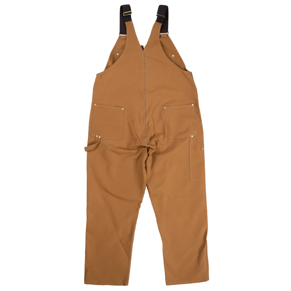 Tough Duck Mens Unlined Overalls Brown Back 7637