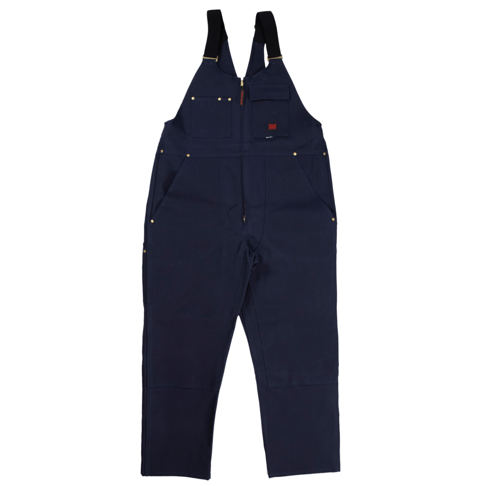 Tough Duck Mens Unlined Overalls Navy Front 7637