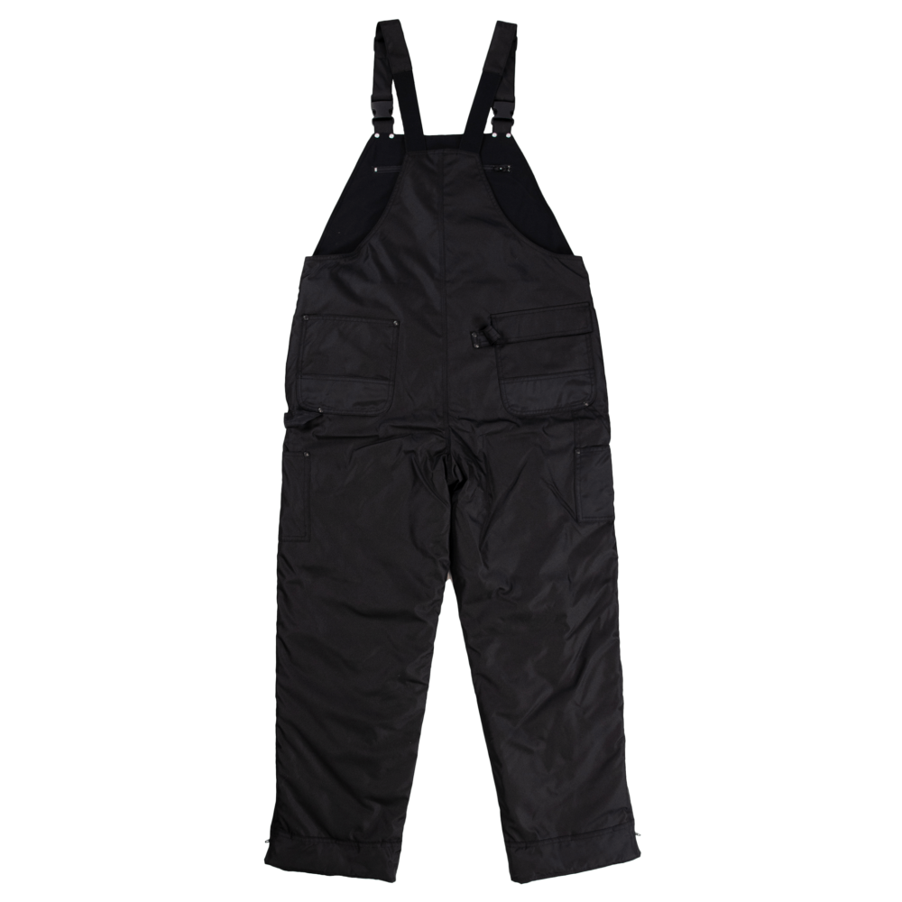 Tough Duck Mens Poly Oxford Lined Overalls Black Back 7910