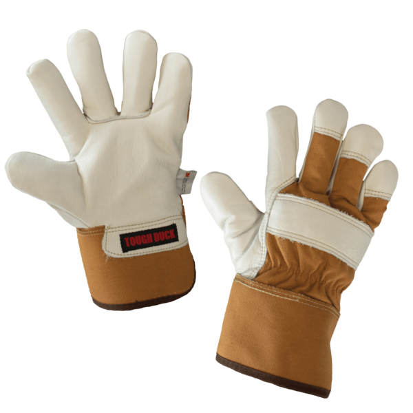 Tough Duck Premium Cowgrain Thinsulate Insulated Waterproof Fitters Glove Detail G69916