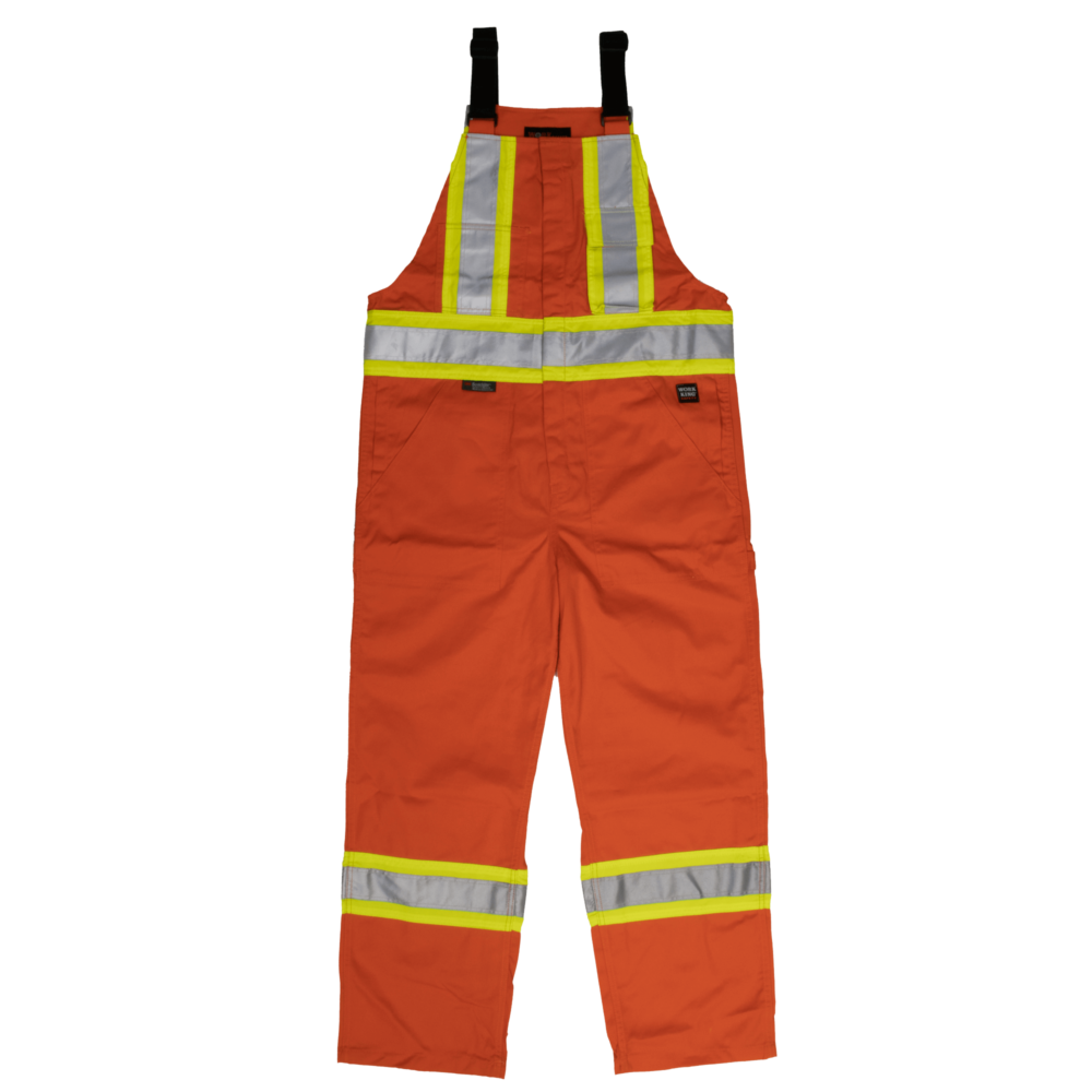 Work King Safety by Tough Duck Mens Unlined Safety Overall Solid Orange Front View S769