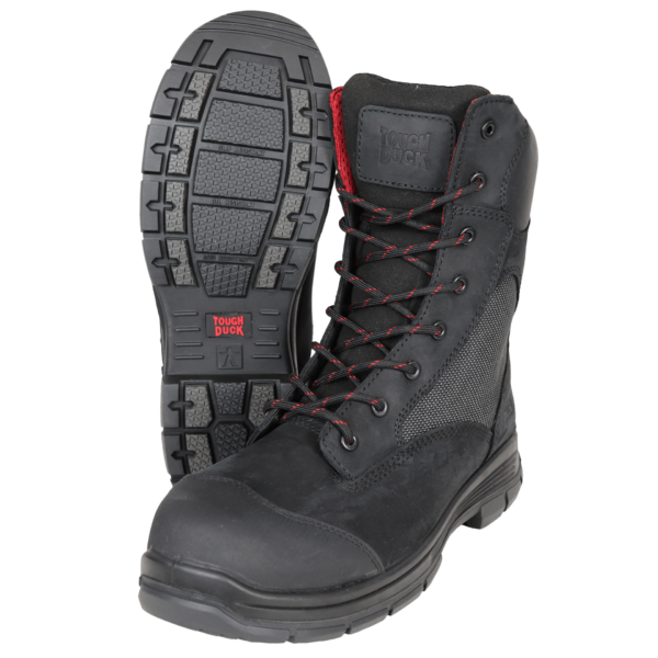 Tough Duck 8 Inch Composite Toe Work Boot Black Detail SF03