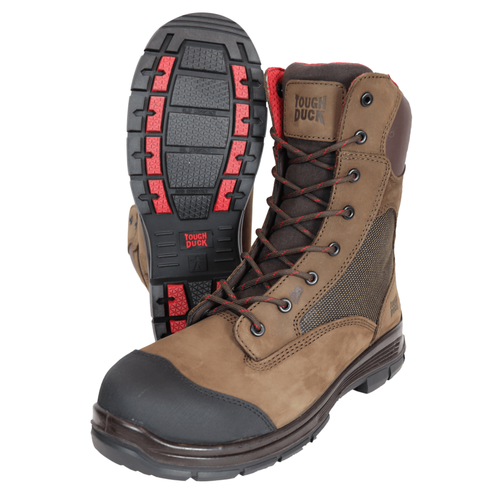 Tough Duck 8 Inch Composite Toe Work Boot Brown Detail SF03