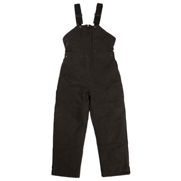 Tough Duck Womens Insulated Duck Overall Black Front View WB02