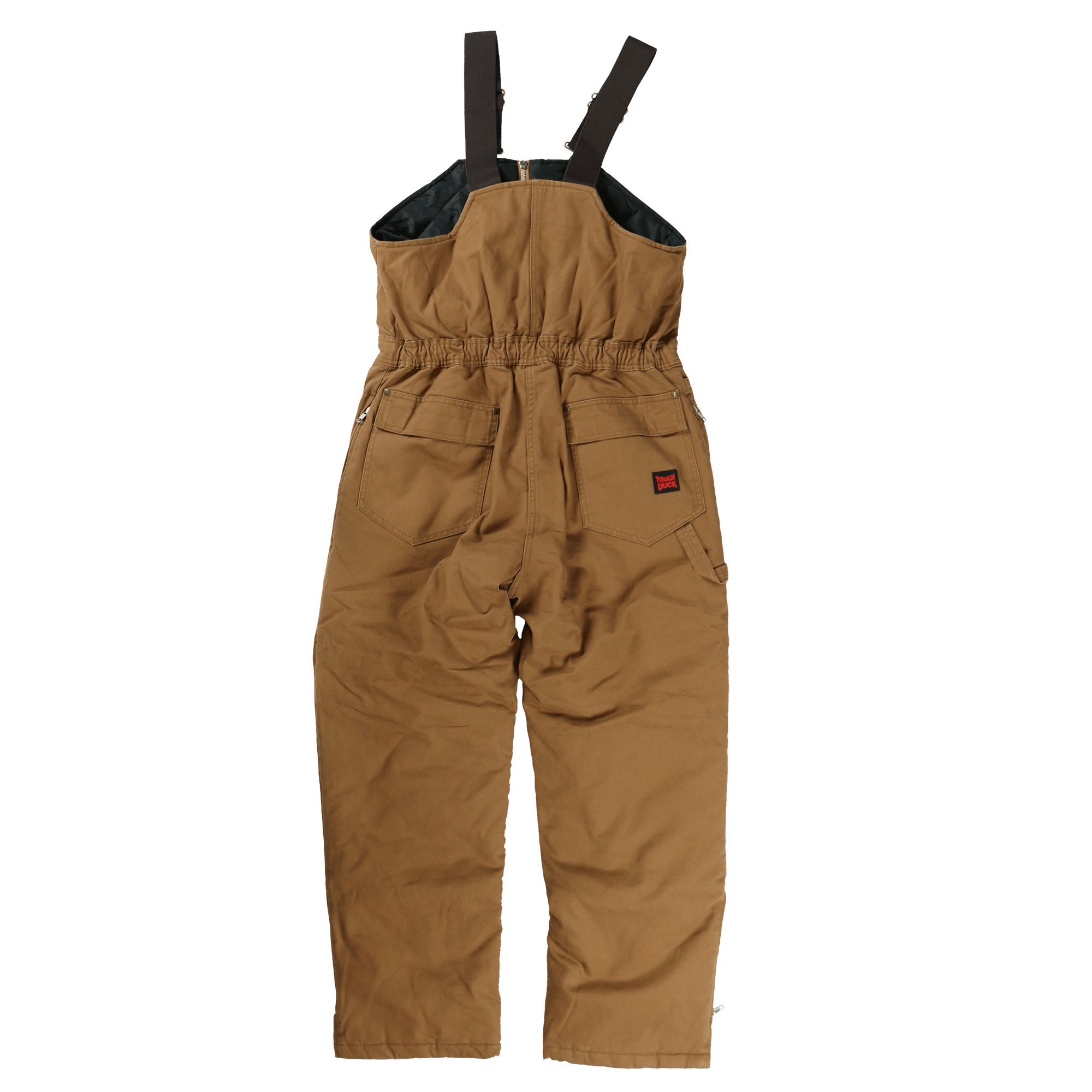 Tough Duck Womens Insulated Duck Overalls Brown Back View WB02